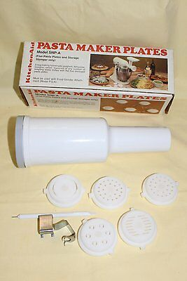 Kitchen Aid Pasta Maker Plates & Stomper Only to use with Grinder, NIB