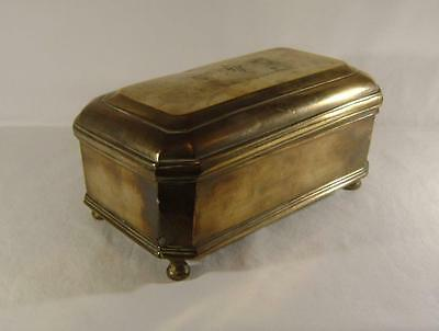 Antique Indonesian or Indian Cast Brass Betel / Paan Box C.1900 with inner tray