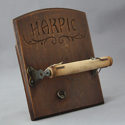 Early 1900s Harpic Advertising Toilet Roll Holder