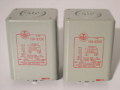 UTC HA-100X  MC STEP-UP TRANSFORMER MATCHED PAIR • NEW / Teletronix® LA-2A