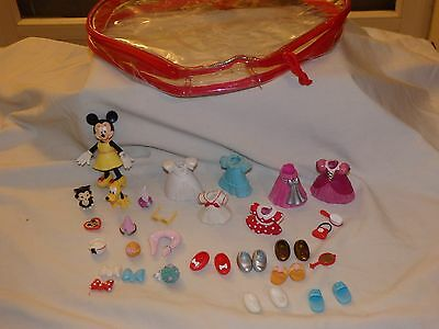 poupée Fashion polly pocket DISNEY MINNIE Pluto chat figaro accessoires