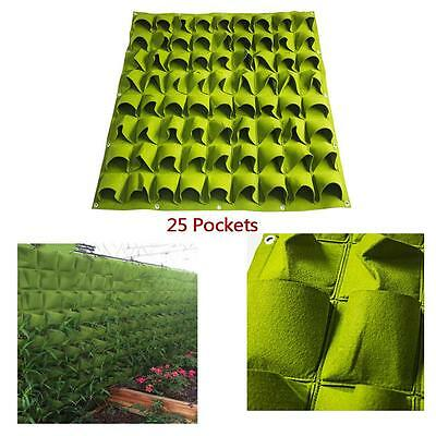 Hanging Planting Bags Outdoor Wall Vertical Green Felt Planter Bag 25 Pockets WT