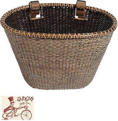 Nantucket Lightship Oval Shape Stained Front Bicycle Basket