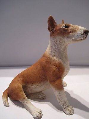 English Bull Terrier red & white model Castagna sitting figure made in Italy