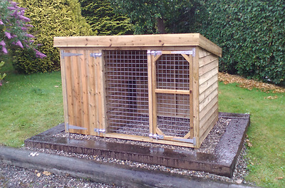 6 x 4 x 4ft tall tanalised dog kennel and run