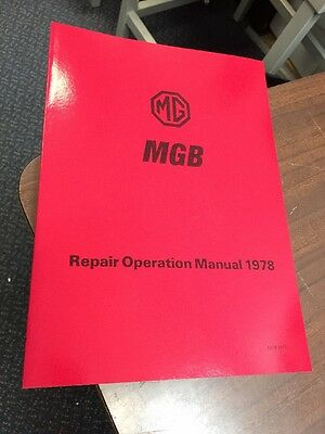 MGB Workshop Manual Instruction Service 1978 Repair Technical