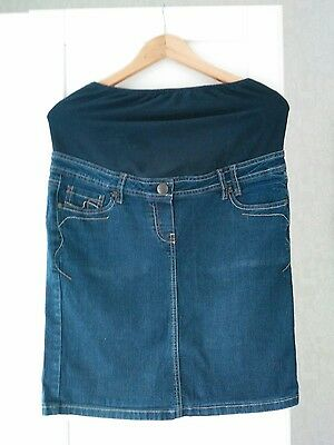 Next maternity denim skirt 12 VGC