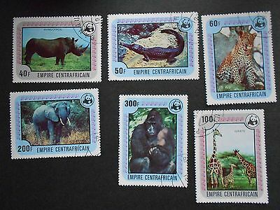 CENTRAL AFRICAN EMPIRE Set of 6 Animal Stamps