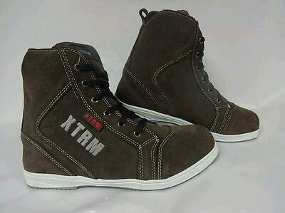 Motorcycle Motorbike Scooter Xtrm 804 Urban Touring Boots Brown  Uk Size 11