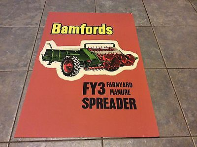 Bamfords Vintage Classic Antique Tractor Manure Spreader Advertising Poster