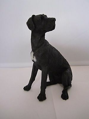 Great Dane black dog figure Castagna hand made & hand painted made in Italy