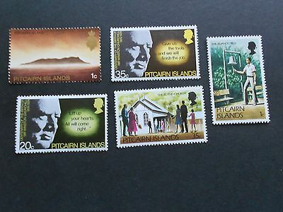 PITCAIRN ISLANDS 5 Various Mint Never Hinged Stamps