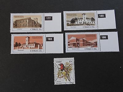 CISKEI 4 Mint Hinged and 1 Used Stamps