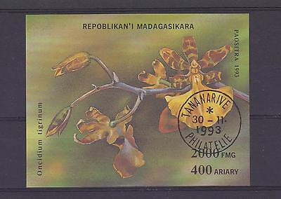 1993 Madagascar - Orchids Miniature Sheet - Sg Ms1132 - Used (Cto)