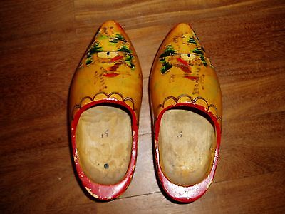 Pair Of Decorative Wooden Clogs
