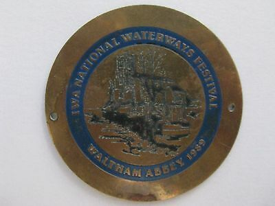 Brass Waterways Plaque  - 1989
