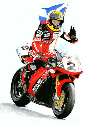 STEVE HISLOP  - DUCATI - Limited Edition Print.