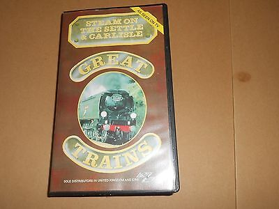 Great Trains - Steam on the Settle to Carlisle - Railways VHS/PAL Video