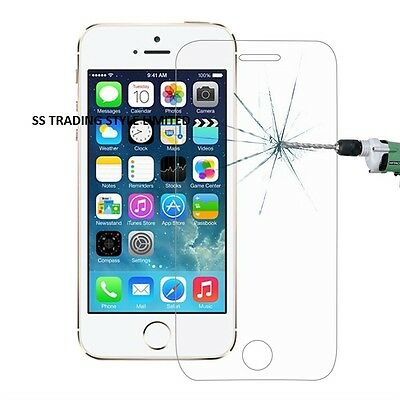 Genuine Tempered Glass Film Screen Protector For Apple Iphone 5S 5C 5