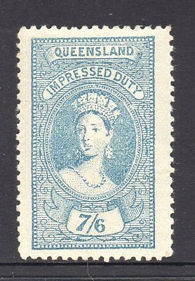 Queensland  Revenue 1895 Q.Victoria Impressed  Duty   7/6d  CTO Mint/H