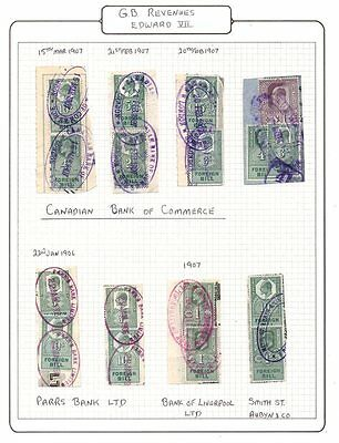 United Kingdom;Revenues 1902  KEVII Foreign Bill (17) to £1 Pound on Pieces