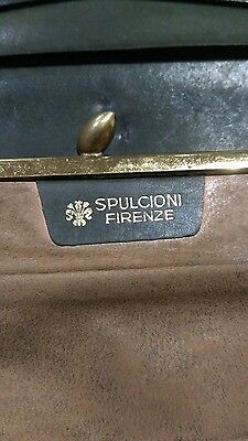 Vintage Dark Green Spulcioni Firenze Purse