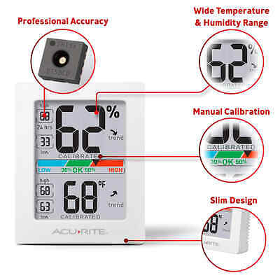 Temperature Humidity Monitor Digital Weather Meter hygrometer and thermometer