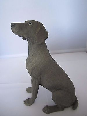 Weinmaraner dog figure Castagna hand made and hand painted in Italy new