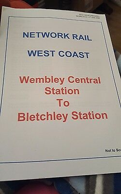 Railway route learning diagram Wembley central to bletchley