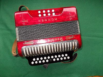 Hohner B/C melodeon, Double Ray, Black Dot