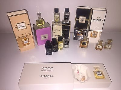 15 Chanel perfume Miniatures/ Inc Rare Music Box Coco, N 5, Allure, Chance ...