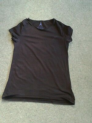 Fab Ladies Black Short Sleeved Stretchy Top, UK Size 14