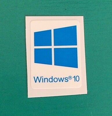 2x Windows 10 Sticker Case Badge Logo Decal Blue Cyan Color Win 10 USA Seller