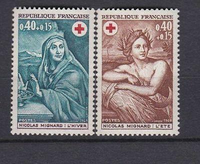 France 1969 Red Cross Issue Mnh