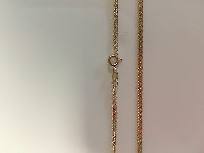 Gold 9 Carat solid yellow gold 3.6 grams double curb link chain