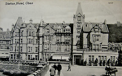 Early Printed Postcard, Station Hotel. Oban.