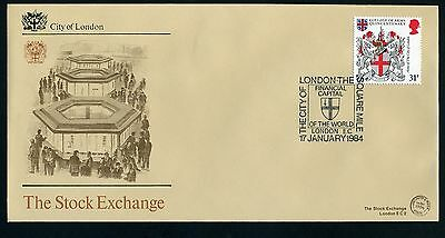 THE STOCK EXCHANGE - First Day Cover - City of London The Square Mile 17 Jan '84
