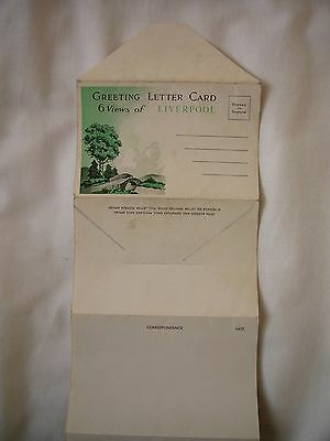 Greeting Letter Card Of Liverpool (Postcard Size)