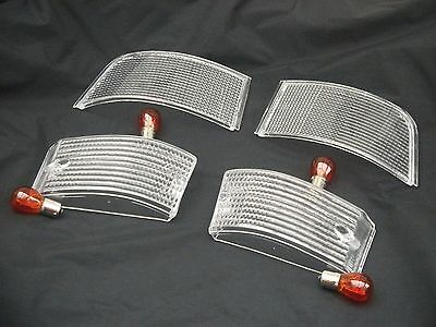 Porsche 944/924 Clear Front And Rear Indicator/turn Lenses With Amber Bulbs