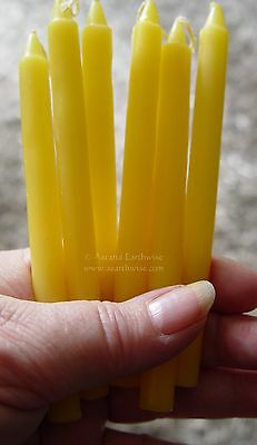 7 x YELLOW - SPELL WORK  - WISHING CANDLES 14cm Wicca  Witch Pagan Goth Ritual