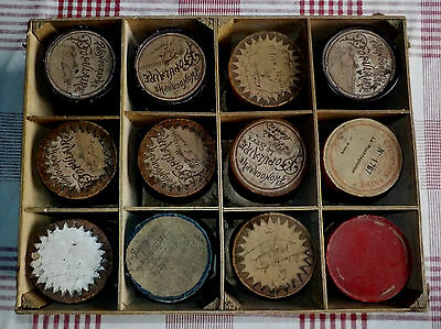 Lot  12  cylindres pour phonographe /Phonographe populaire / cylinder phonograph