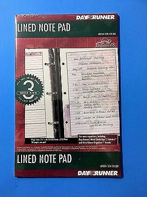 Day Runner Lined Note Pad # 89244 Perennials Refills 3 Ring 30 Pages Per Pad