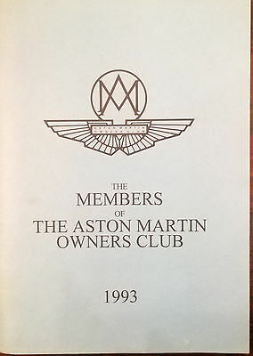 CA184 Clubheft The Members of The Aston Martin Owners Club 1993, neuwertig