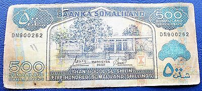 2002 Bank of Somaliland 500 Shillings Banknote Sheep Ship Issue Circ #  MP 7