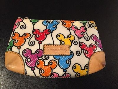 Dooney & Bourke DISNEY MULTI COLOR MICKEY MOUSE BALLOONS Small Cosmetic Bag