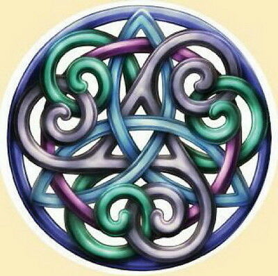 WINDOW STICKER - CELTIC GRACE TRIQUETRA - DECAL 110mm Wicca Witch Pagan