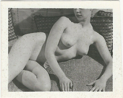 Vintage Nude Photo Artistic Original 1940's Pre WWII Risque Pinup FK23