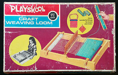 Playskool Craft Weaving Loom 1973 A Milton Bradley Model 9384