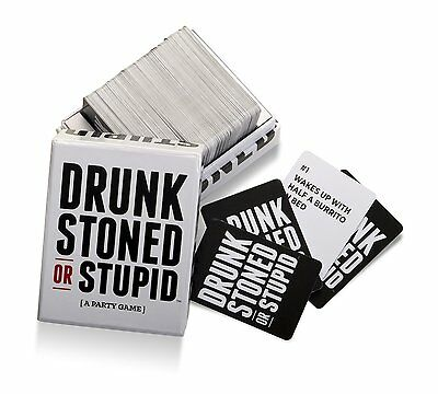DRUNK STONED OR STUPID LATEST VERSION Party Card Game BRAND NEW! HOT Xmas Gift