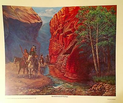 Signed Numbered Print Dorothy Sullivan Cherokee Native American